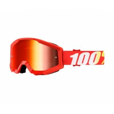 Okuliare 100% Strata furnace - zrkadlové sklo červené