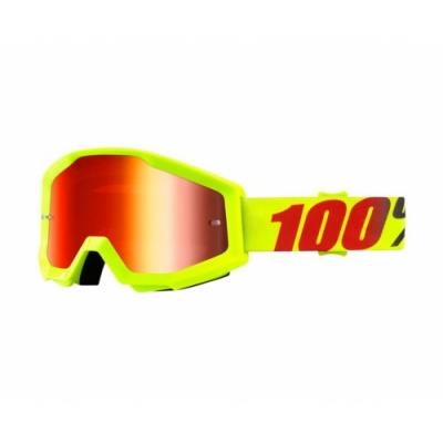 Okuliare 100% Strata mercury - zrkadlové sklo červené