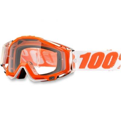 Okuliare 100% Racecraft mandarina 2 - číre sklo