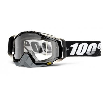 Okuliare 100% Racecraft abyss black - číre sklo