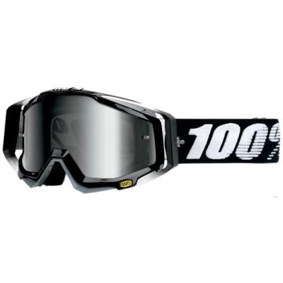Okuliare 100% Racecraft abyss black - zrkadlové sklo strieborné