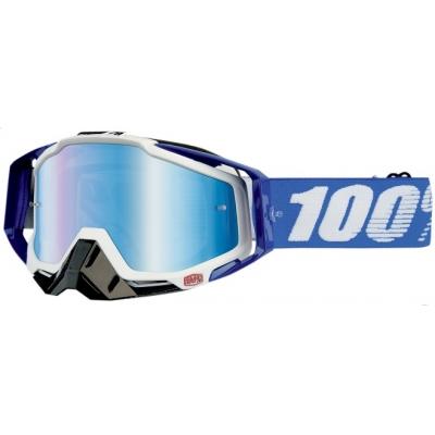 Okuliare 100% Racecraft cobalt - zrkadlové sklo modré