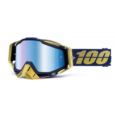 Okuliare 100% Racecraft renaissance - zrkadlové sklo modré
