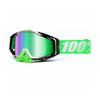 Okuliare 100% Racecraft organic - zrkadlové sklo modré