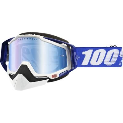 Okuliare 100% Racecraft blue snow - zrkadlové sklo modré
