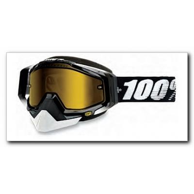 Okuliare 100% Racecraft black snow - žlté sklo