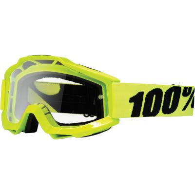 Okuliare 100% Accuri fluo yellow - číre