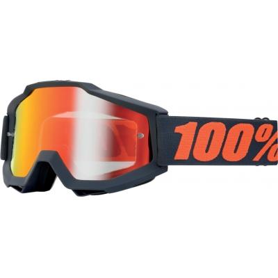 Okuliare 100% Accuri gunmetal - zrkadlové sklo červené