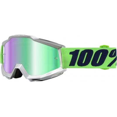 Okuliare 100% Accuri nova - zrkadlové sklo zelené