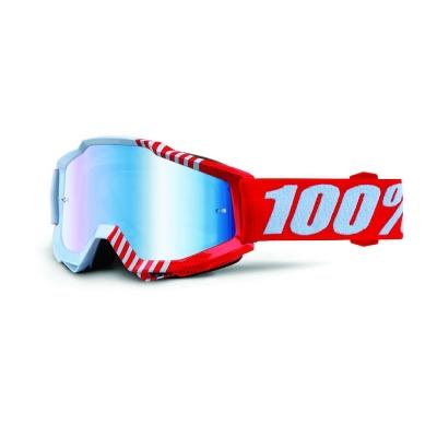 Okuliare 100% Accuri cupcoy - zrkadlové sklo modré
