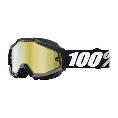 Okuliare 100% Accuri tornado snow - zrkadlové sklo zlaté