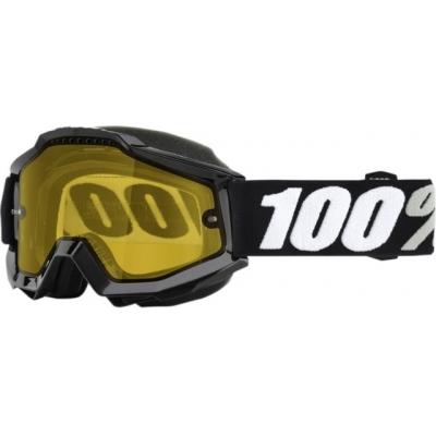 Okuliare 100% Accuri tornado snow - žlté sklo číre