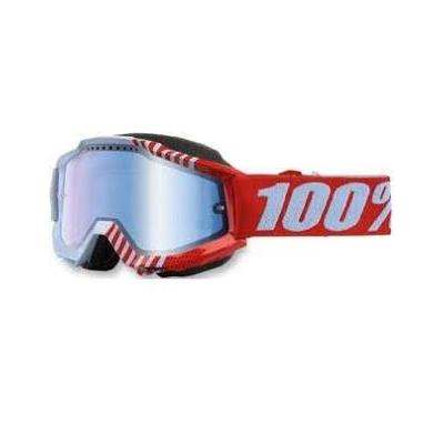 Okuliare 100% Accuri cupcoy snow - zrkadlové sklo modré