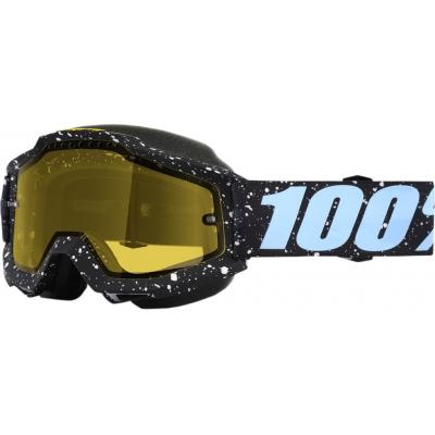 Okuliare 100% Accuri milkyway snow - žlté sklo číre