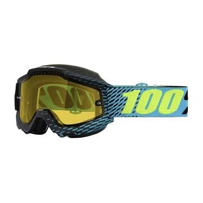 Okuliare 100% Accuri r-core snow - žlté sklo číre