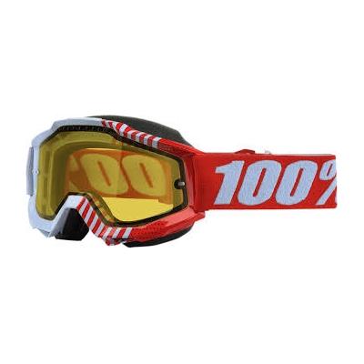 Okuliare 100% Accuri cupcoy snow - žlté sklo číre