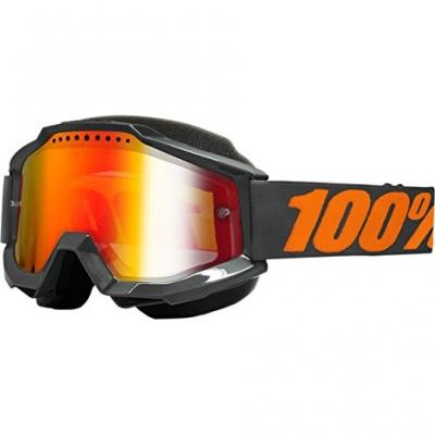 Okuliare 100% Accuri gray snow - zrkadlové sklo červené