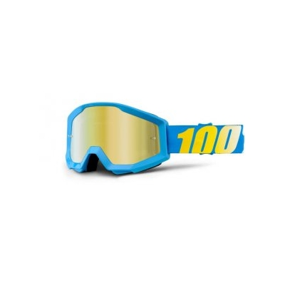 Okuliare 100% Accuri cyan x-ray snow - zrkadlové sklo zlaté