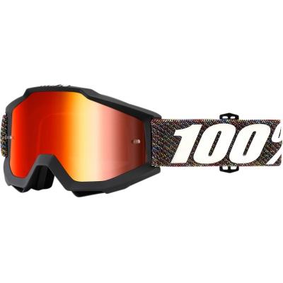 Okuliare 100% Accuri krick - zrkadlové sklo červené