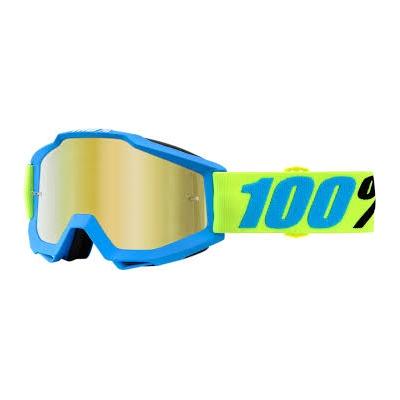 Okuliare 100% Accuri belize - zrkadlové sklo zlaté