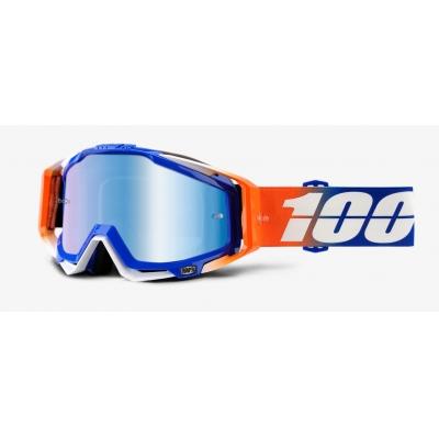 Okuliare 100% Racecraft Roxburry - zrkadlové modré