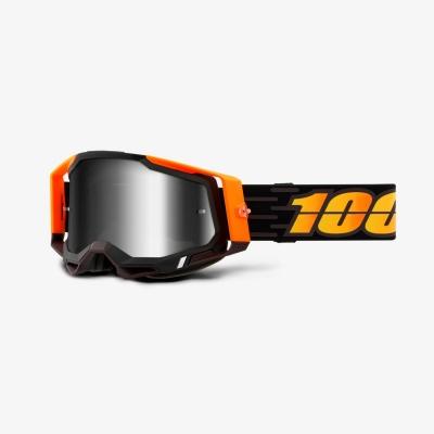 Okuliare 100% Racecraft 2, costume čierno-oranžové zrkadlové