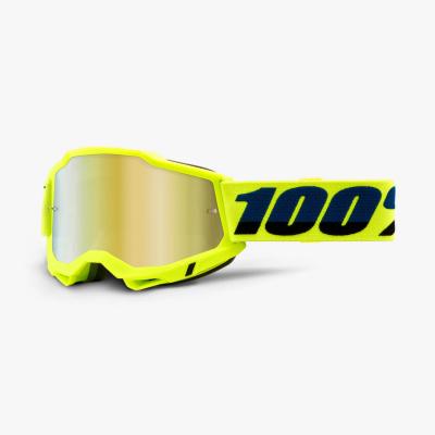 Okuliare 100% ACCURI 2, žlto-neónové, zrkadlové