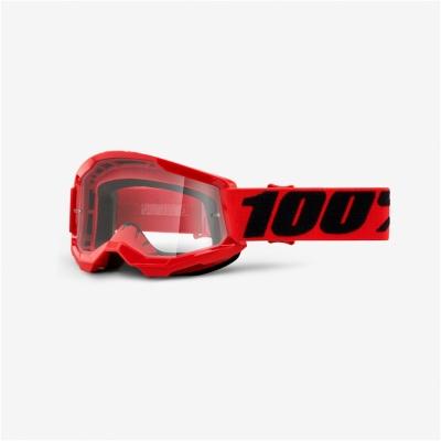 Okuliare 100% STRATA 2, červené, číre