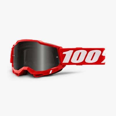 Okuliare 100% ACCURI 2 Sand Red, červené,zrkadlové