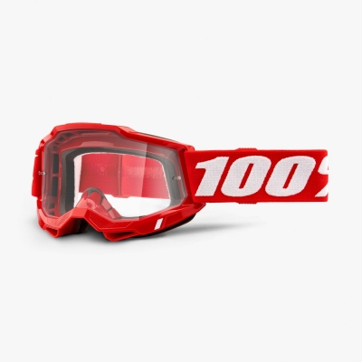 Okuliare 100% ACCURI 2 OTG,červené, číre