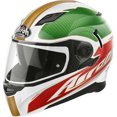 Prilba AIROH Movement far, zlatá biela zelená červená, veľkosť M, na motorku