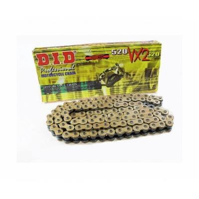Reťaz DID 520 VX2 120čl - zlatá x-ring