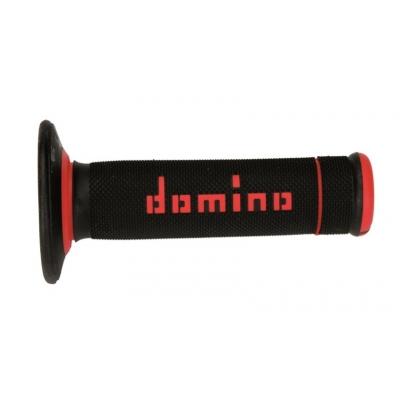Rukoväte/ gripy Domino čierno-červené 118mm