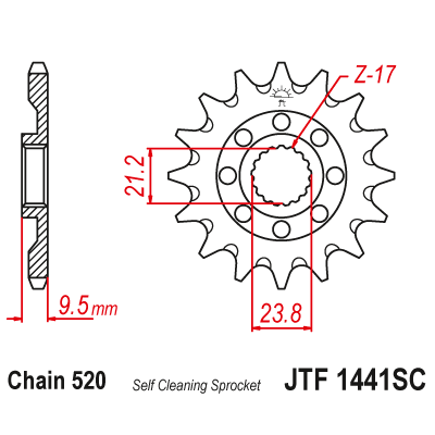 Kolečko JT sprockets JTF1441SC 13z.