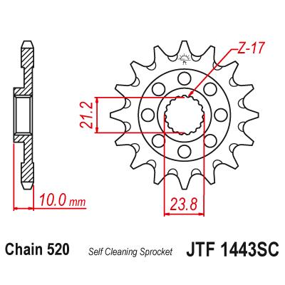 Kolečko JT sprockets JTF1443SC 13z.