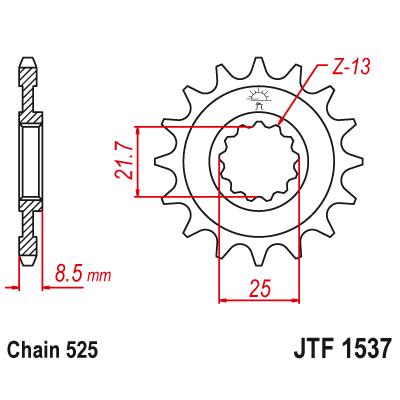 Kolečko JT sprockets JTF1537 16z.