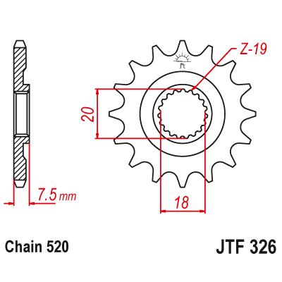 Kolečko JT sprockets JTF326 13z.
