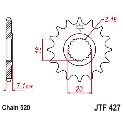 Kolečko JT sprockets JTF427SC 12z.