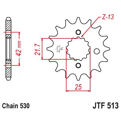Kolečko JT sprockets JTF513 17z.