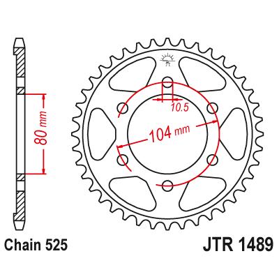 Rozeta JT Sprockets JTR1489 41z.