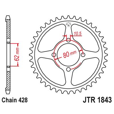 Rozeta JT Sprockets JTR1843 54z.