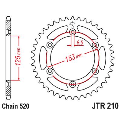 Rozeta JT Sprockets JTR210 49z.