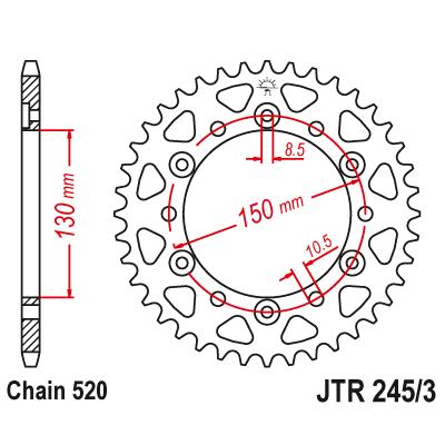 Rozeta JT Sprockets JTR245/3 46z.