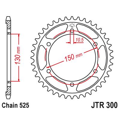 Rozeta JT Sprockets JTR300 47z.