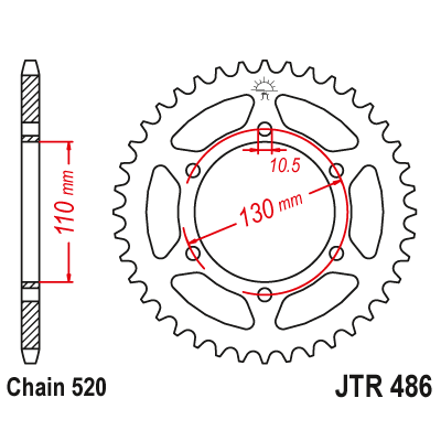 Rozeta JT Sprockets JTR486 43z.