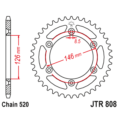 Rozeta JT Sprockets JTR808 49z.