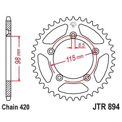 Rozeta JT Sprockets JTR894 50z.