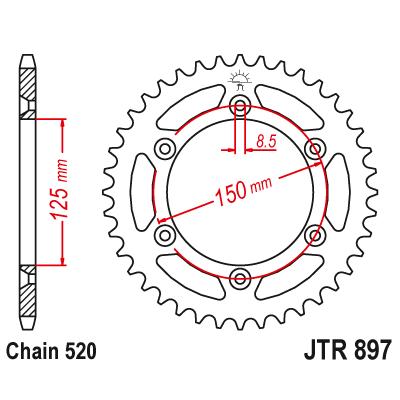 Rozeta JT Sprockets JTR897 51z.