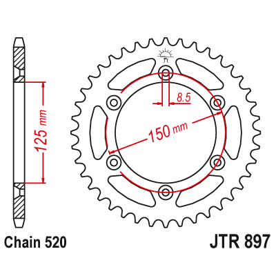 Rozeta JT Sprockets JTR897 52z.