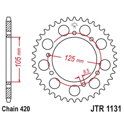 Rozeta JT Sprockets JTR1131 48z.